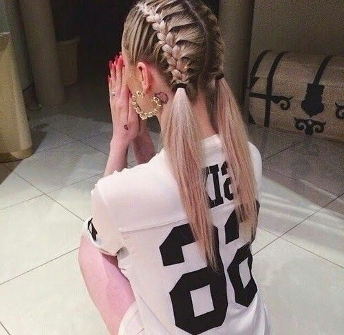 17 Chic Double Braided Hairstyles You Will Love | Styles Weekly Intended For Messy Double Braid Ponytail Hairstyles (View 9 of 25)