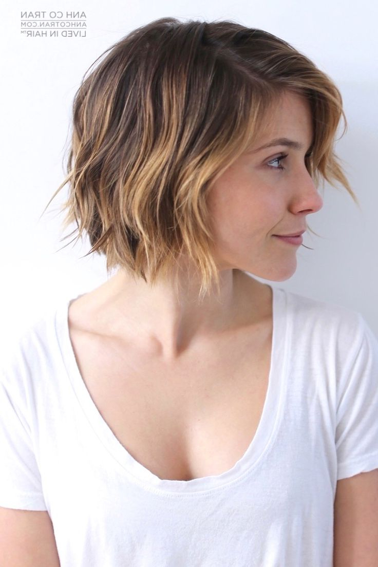 17 Cute Choppy Bob Hairstyles We Love | Styles Weekly With Inverted Brunette Bob Hairstyles With Messy Curls (View 5 of 25)