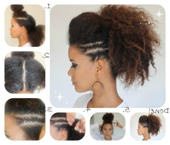 17 Fabulous Faux Hawk Hairstyle Tutorials In Faux Hawk Ponytail Hairstyles (View 5 of 25)