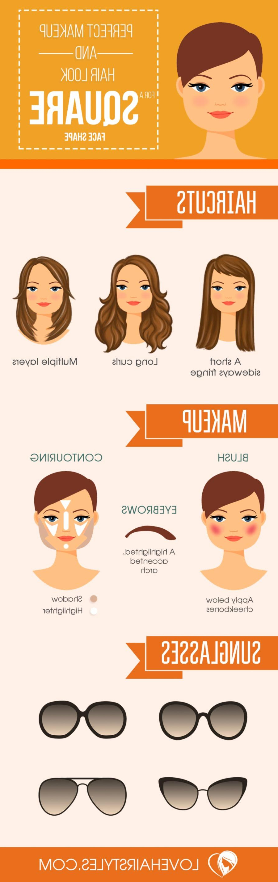 17 Sexy Hairstyles For Square Faces   Face Shape Hairstyles Intended For Short Haircuts For Different Face Shapes (View 11 of 25)