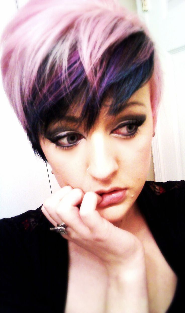 17 Stylish Hair Color Designs: Purple Hair Ideas To Try! – Popular With Purple And Black Short Hairstyles (View 3 of 25)