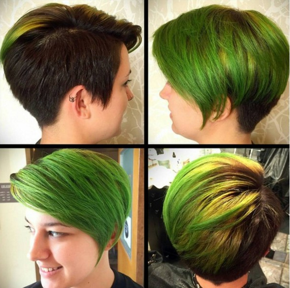 18 Beautiful Short Hairstyles For Round Faces 2016 – Pretty Designs With Edgy Purple Tinted Pixie Haircuts (View 7 of 25)