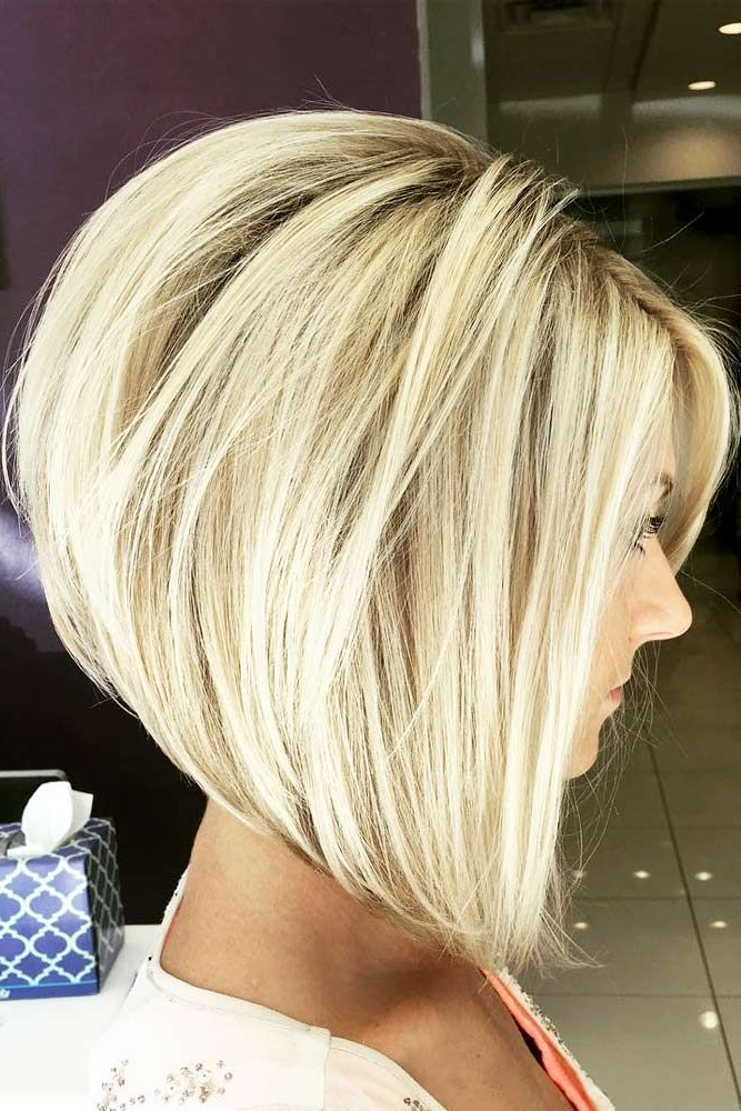 18 Classy And Fun A Line Haircut Ideas – Hairstyles For Any Woman Throughout Silver Balayage Bob Haircuts With Swoopy Layers (View 23 of 25)