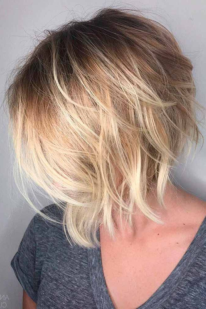 18 Classy And Fun A Line Haircut Ideas – Hairstyles For Any Woman Within Silver Balayage Bob Haircuts With Swoopy Layers (View 10 of 25)