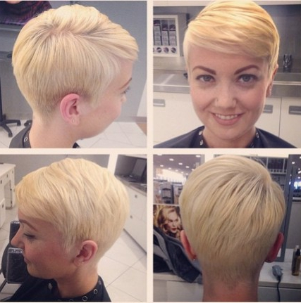 18 Easy Short Hairstyles With Bangs! – Popular Haircuts Within Sweeping Pixie Hairstyles With Undercut (View 17 of 25)