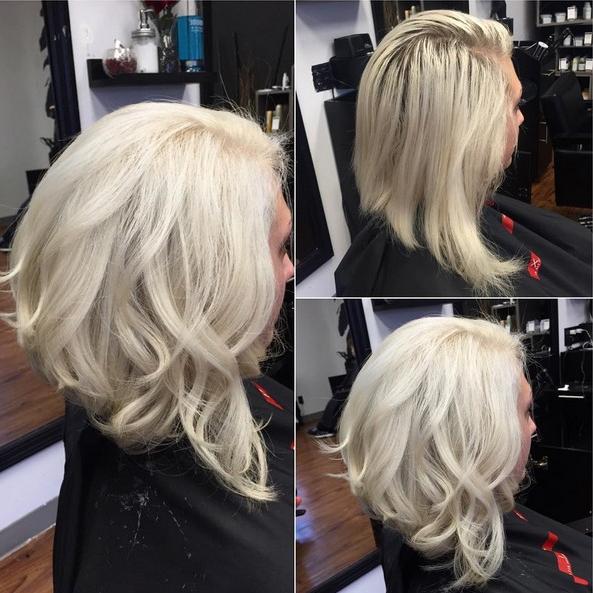 18 Hot Angled Bob Hairstyles: Shoulder Length Hair, Short Hair Cut Regarding Stacked Sleek White Blonde Bob Haircuts (View 17 of 25)