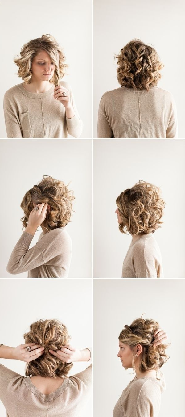 18 Pretty Updos For Short Hair: Clever Tricks With A Handful Of With Short Hairstyles For Prom Updos (View 5 of 25)