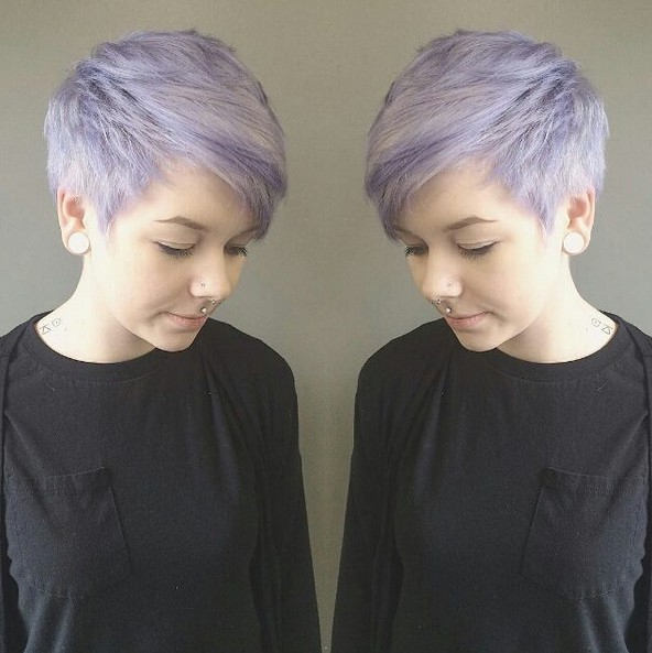 18 Short Hairstyles Perfect For Fine Hair – Popular Haircuts Intended For Lavender Haircuts With Side Part (View 20 of 25)