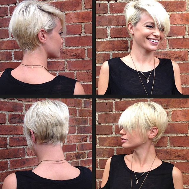 19 Incredibly Stylish Pixie Haircut Ideas – Short Hairstyles For 2018 For Long Blonde Pixie Haircuts With Root Fade (View 5 of 25)