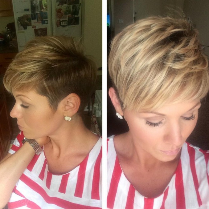 19 Incredibly Stylish Pixie Haircut Ideas – Short Hairstyles For 2018 In Long Blonde Pixie Haircuts With Root Fade (View 9 of 25)