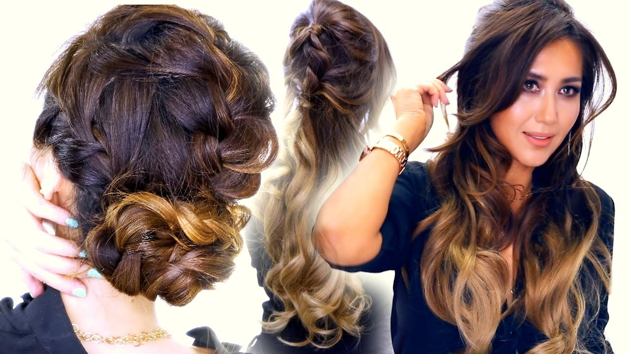 2 ? Summer Braid Hairstyles | Cute Half Updo & Messy Bun Hairstyle Inside Half Long Half Short Hairstyles (View 7 of 25)