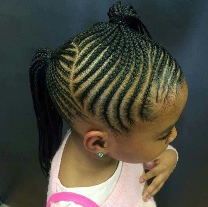2 Ponytails Braid Pattern | Hair For My Brown Baby | Pinterest Pertaining To Trendy Two Tone Braided Ponytails (View 4 of 25)
