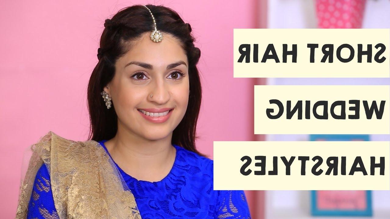 2 Wedding Hairstyles For Short Hair | Short Hair Hairstyles – Popxo Throughout Bridal Hairstyles Short Hair (View 22 of 25)