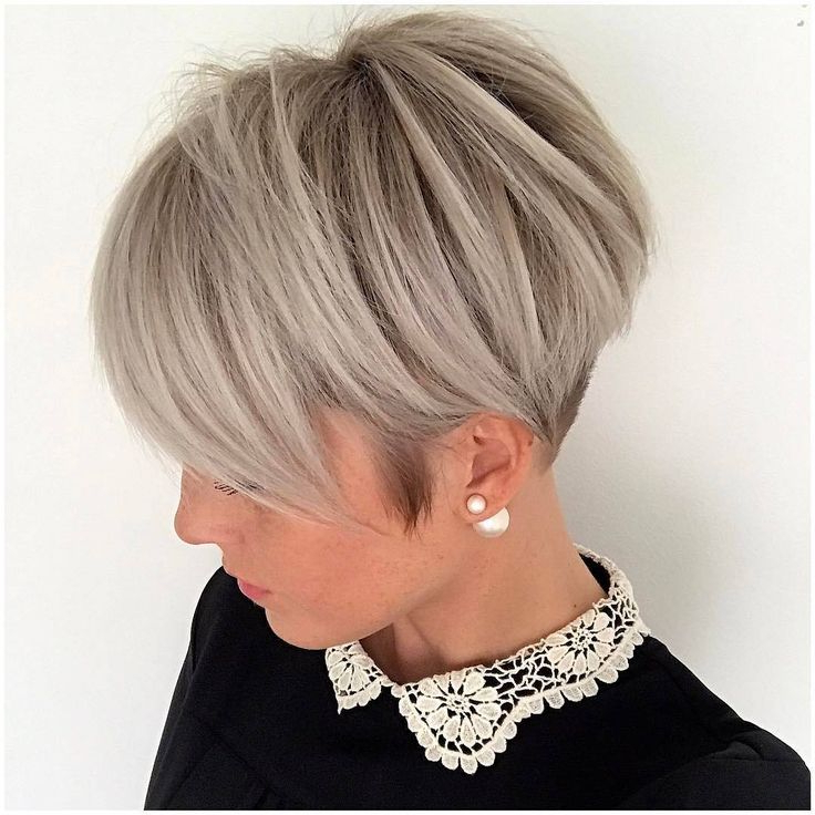 Featured Photo of Long Messy Ash Blonde Pixie Haircuts