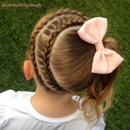 20 Adorable Braided Hairstyles For Girls – Popular Haircuts For Diagonally Braided Ponytail Hairstyles (View 15 of 25)