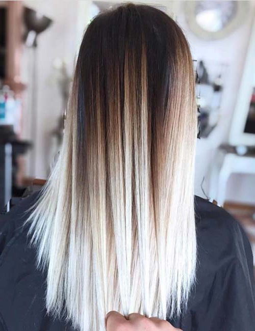 20 Amazing Brown To Blonde Hair Color Ideas Throughout High Contrast Blonde Balayage Bob Hairstyles (View 15 of 25)