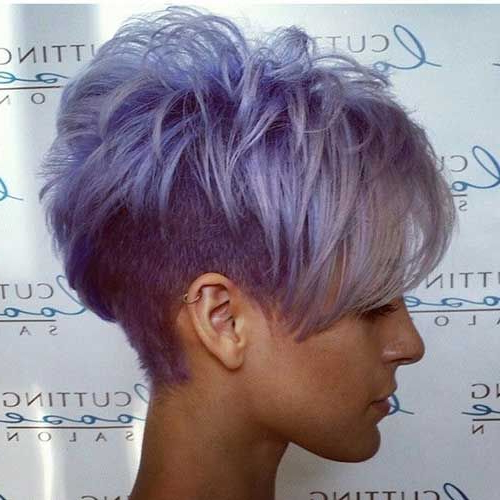 20 Amazing Funky Hairstyle To Make You Stand Out In The Crowd | Hair In Edgy Purple Tinted Pixie Haircuts (View 8 of 25)