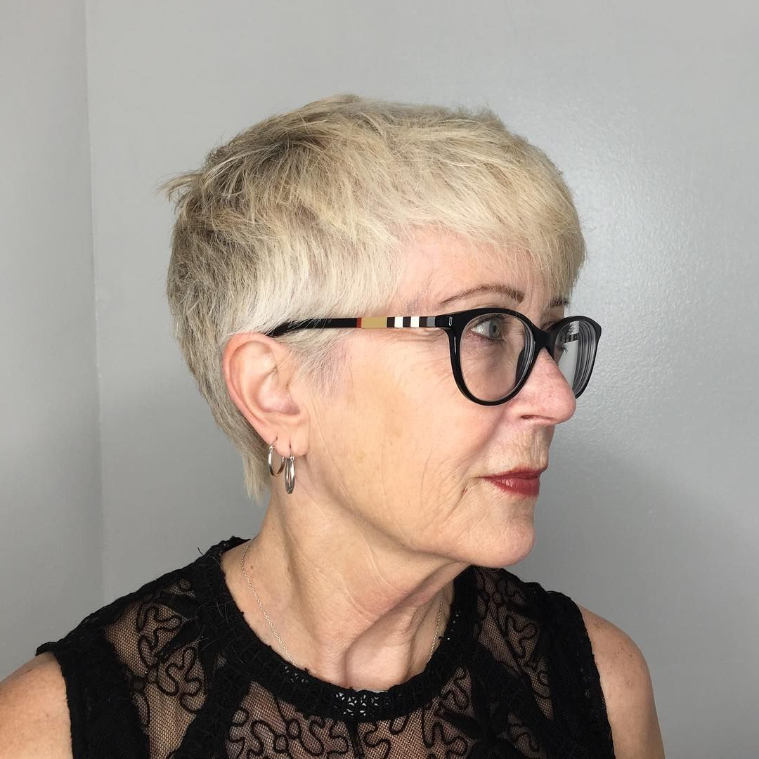 20 Amazing Hairstyle & Haircut Ideas For Women Above 50   50Th In Short Haircuts For Glasses Wearer (View 16 of 25)