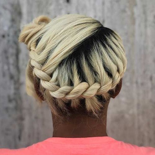 20 Beautiful Braided Updos For Black Women Throughout Fiercely Braided Ponytail Hairstyles (View 17 of 25)