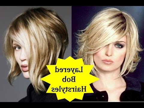 20 Beautiful Layered Bob Hairstyles – How To Style Layered Bob With With Regard To Textured Bob Haircuts With Bangs (View 23 of 25)