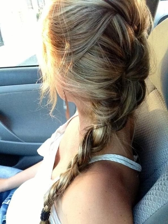 20 Best Braid For Long Hair – Popular Haircuts Throughout Messy Braid Ponytail Hairstyles (View 14 of 25)