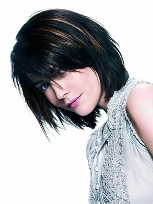 20 Best Dark Bob Hairstyles | Short Hairstyles 2017 – 2018 | Most Throughout Black Inverted Bob Hairstyles With Choppy Layers (View 18 of 25)