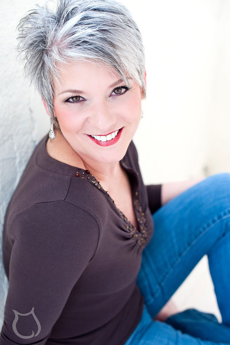 20 Best Hair Styles Images On Pinterest   Grey Hair, Short Hair For Short Hairstyles For Grey Haired Woman (View 5 of 25)