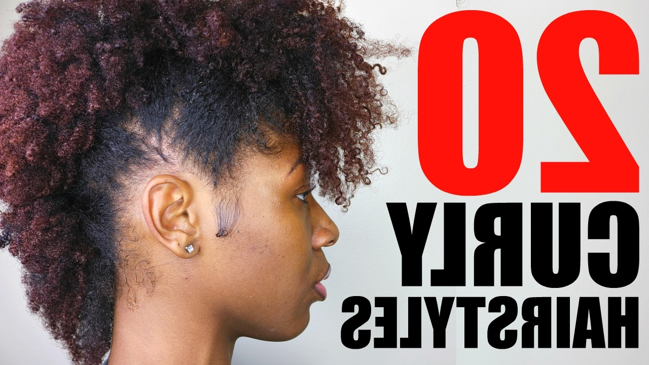 20 Curly/ Natural Hairstyles | Short/ Medium Hair – Youtube Throughout Curly Black Short Hairstyles (View 18 of 25)