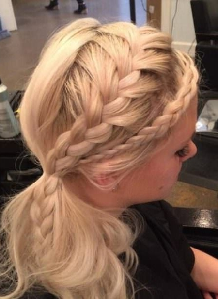 20 Cute French Braid Ponytails Pertaining To Flowy Side Braid Ponytail Hairstyles (View 22 of 25)