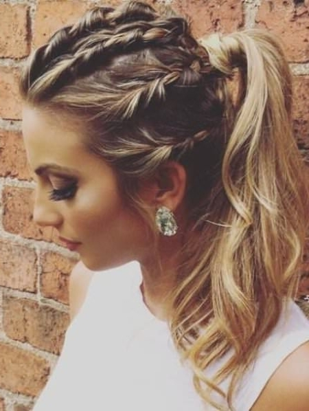 20 Cute French Braid Ponytails Throughout Braided Glam Ponytail Hairstyles (View 3 of 25)