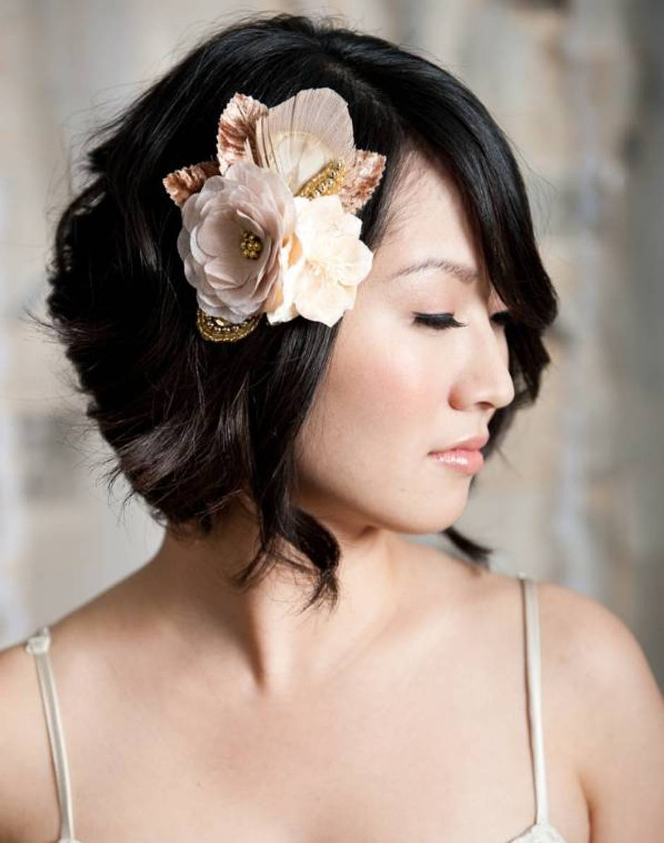 20 Cute Wedding Hairstyles For Short Hair | Inspiringmesh Inside Cute Wedding Hairstyles For Short Hair (View 8 of 25)