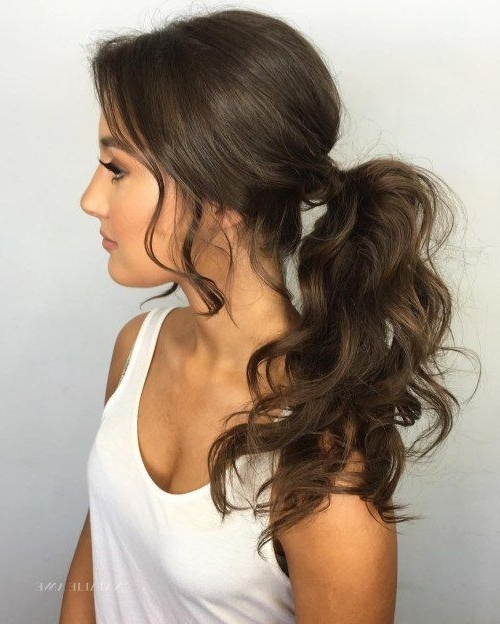 20 Date Night Hair Ideas To Capture All The Attention | Beauty Intended For Wavy Free Flowing Messy Ponytail Hairstyles (View 7 of 25)