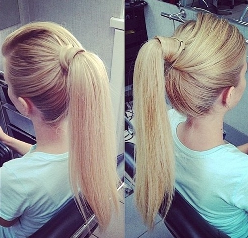 20 Everyday Ponytail Hairstyles – Simple Easy Ponytails 2017 With Regard To Messy Blonde Ponytails With Faux Pompadour (View 4 of 25)