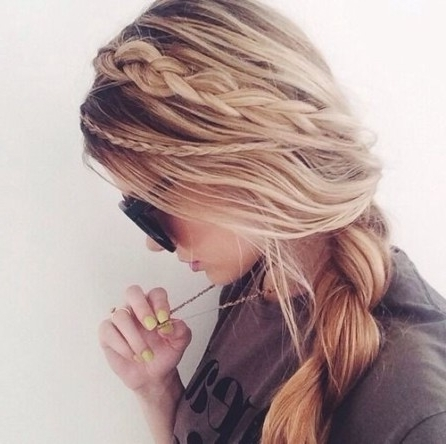 20 Fresh Ideas For A Side Braid Hairstyle (With Pictures) Inside Long Ponytails With Side Braid (View 6 of 25)