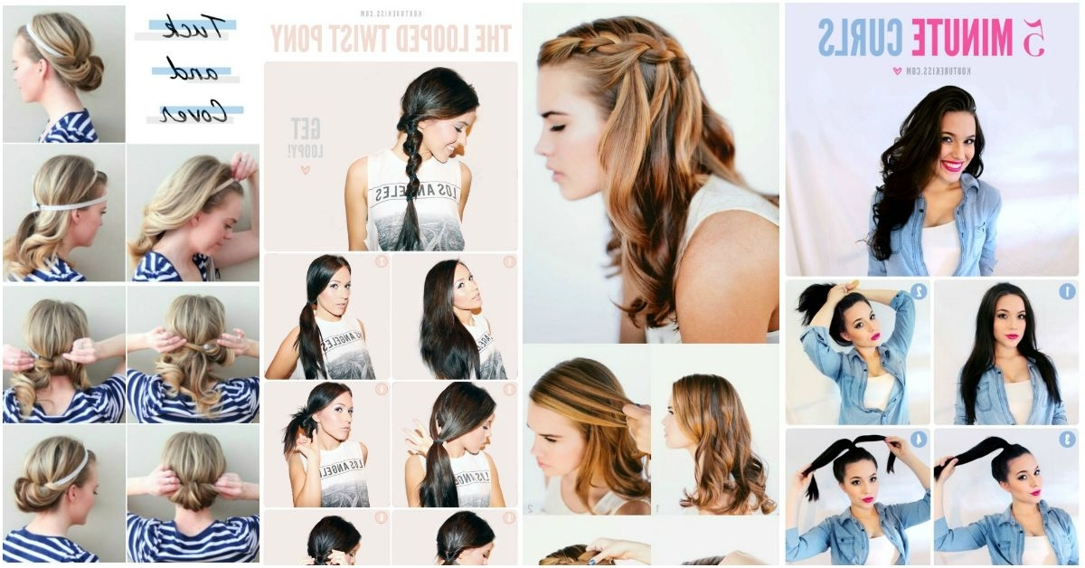 20 Gorgeous 5 Minute Hairstyles To Save You Some Snooze Time – Diy Pertaining To 2 Minute Side Pony Hairstyles (View 8 of 25)