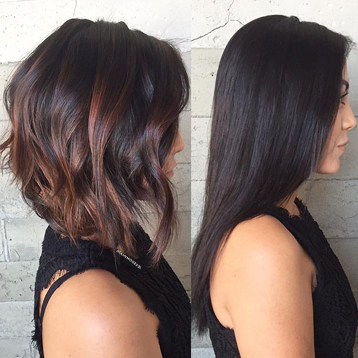 Featured Photo of Black Inverted Bob Hairstyles With Choppy Layers