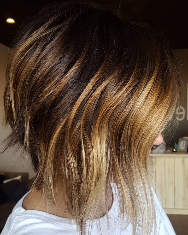 20 Gorgeous Inverted Choppy Bobs | Prom Hairstyles | Pinterest Within Black Inverted Bob Hairstyles With Choppy Layers (View 4 of 25)