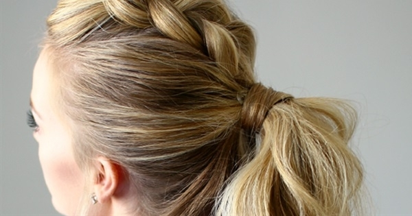 20 Gorgeous Ponytail Hairstyles For Different Occasions | Postris Intended For Braided Maze Low Ponytail Hairstyles (View 2 of 25)