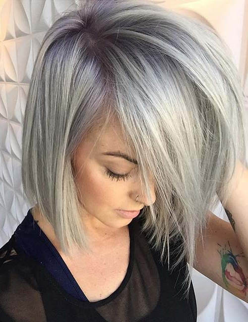 20 Hairstyles With Side Swept Bangs That Will Sweep You Off Your Feet In Layered Bob Hairstyles With Swoopy Side Bangs (View 14 of 25)