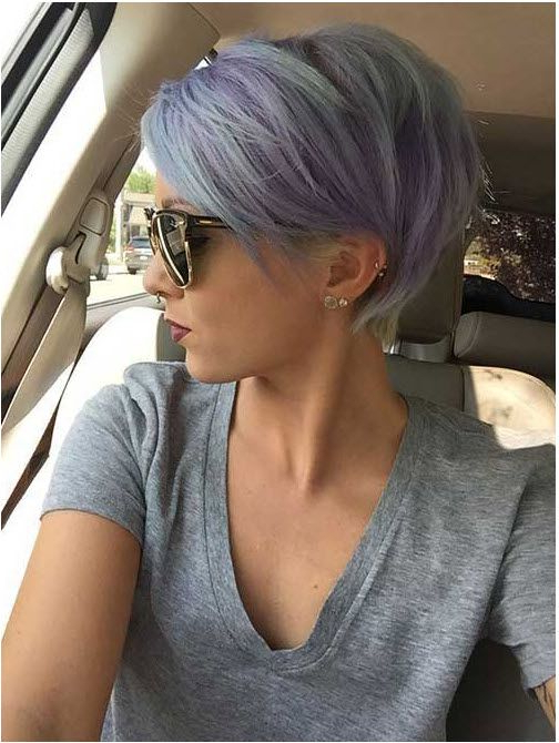 20 Interesting Short Hairstyles And Haircuts With Bangs | Hair Within Lavender Haircuts With Side Part (View 11 of 25)