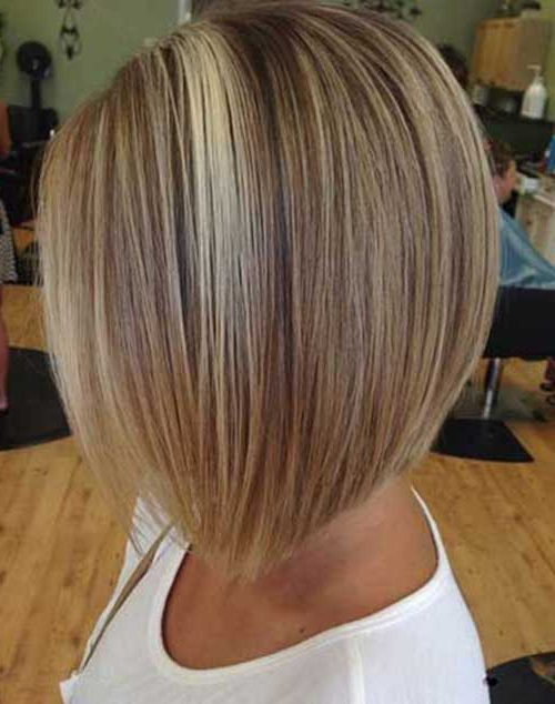20+ Inverted Bob Hairstyles   Short Hairstyles 2017 – 2018   Most For Stacked Bob Hairstyles With Highlights (View 14 of 25)