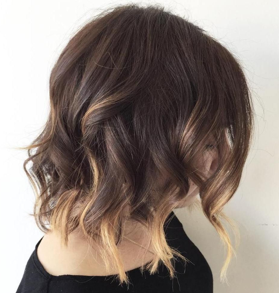 20 Jaw Dropping Partial Balayage Hairstyles   Bobs, Partial Balayage Pertaining To Curly Dark Brown Bob Hairstyles With Partial Balayage (View 8 of 25)