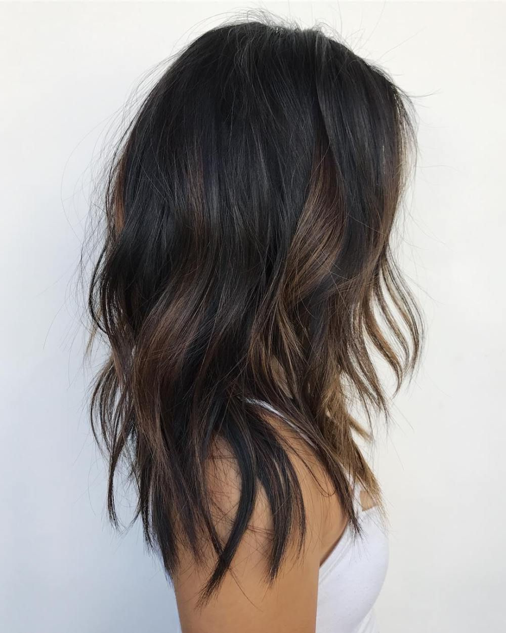 20 Jaw Dropping Partial Balayage Hairstyles In 2018   Dark Hair Throughout Curly Dark Brown Bob Hairstyles With Partial Balayage (View 4 of 25)