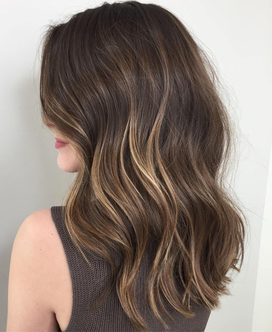 20 Jaw Dropping Partial Balayage Hairstyles Inside Curly Dark Brown Bob Hairstyles With Partial Balayage (View 2 of 25)