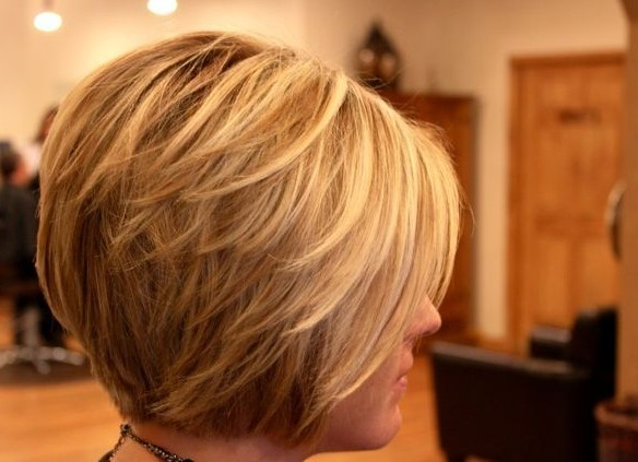 20 Layered Hairstyles For Short Hair – Popular Haircuts Regarding Short Bob Hairstyles With Tapered Back (View 2 of 25)