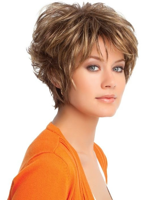 20 Layered Hairstyles For Short Hair – Popular Haircuts With Pixie Bob Hairstyles With Golden Blonde Feathers (View 21 of 25)