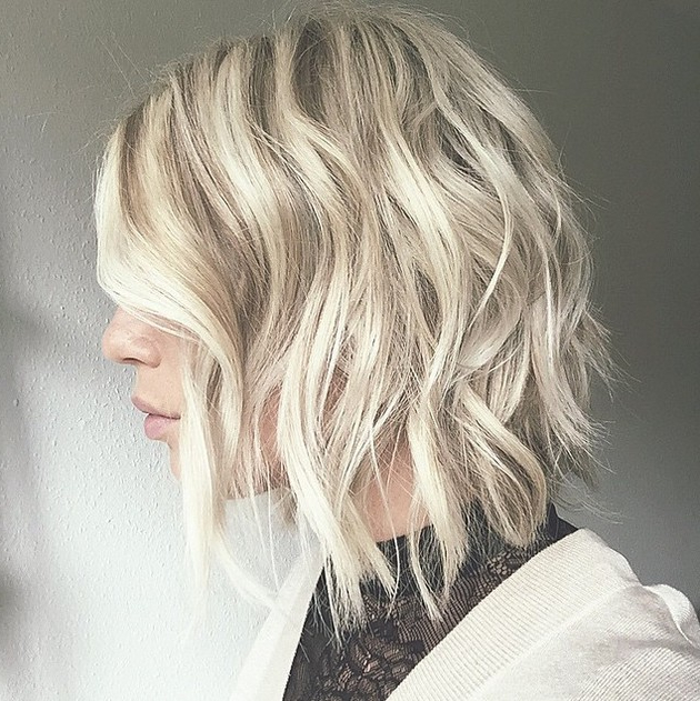 20 Medium Length Bob Hairstyles – Fabulous Mobs To Copy Now | Styles Throughout Butter Blonde A Line Bob Hairstyles (View 23 of 25)