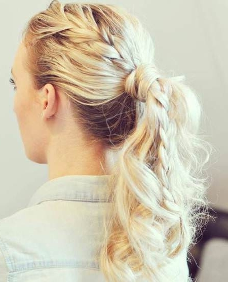 20 Messy Ponytail Hairstyles Throughout Messy Braid Ponytail Hairstyles (View 5 of 25)