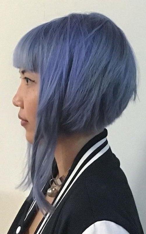 20 Most Flattering Asymmetrical Bob Hairstyles | Hair Ideas In Asymmetrical Unicorn Bob Haircuts (View 7 of 25)