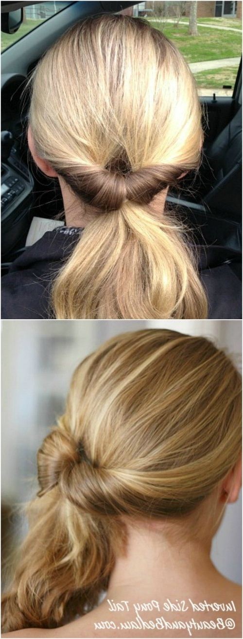 20 Perfect Ponytail Tutorials – Turning The Ordinary Into Regarding Reverse Braid And Side Ponytail Hairstyles (View 9 of 25)